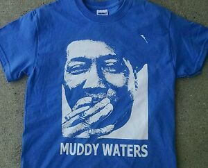 Muddy-Waters-t-shirt-smoke-Blues-Guitar-gibson-telecaster-classic-sm-5xlg-crb