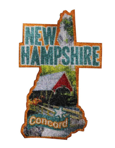 Concord New Hampshire Printed iron On Patch Travel Souvenir State Capitol 054-E