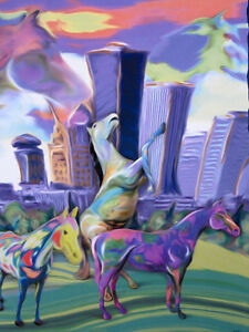 Horses-on-Parade-Rochester-New-York-Poster