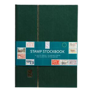 Whsmith Stamp Stockbook Assorted Colour Glassine Strips