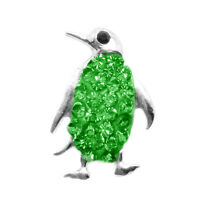 Beauty Rhinestone Green Penguin Charm Chunk Snap Button for Noosa Bracelet