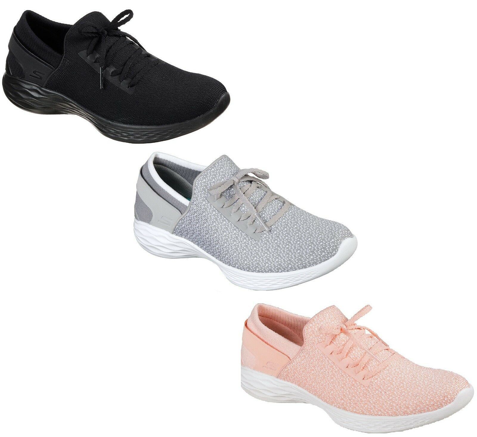 Ladies Skechers You Inspire Trainers 3x Colours
