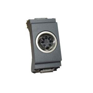 Vimar Idea 16332 presa connettore 5 DIN 41254 grigio Hi-Fi