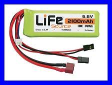 HOBBICO LIFE 6.6v 2100mah RC REMOTE CONTROL RECEIVER LIFESOURCE BATTERY HCAM6436