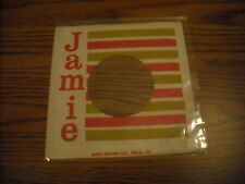 45 RECORD COMPANY SLEEVE.   JAMIE HORZ. LINES.