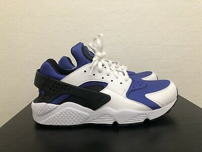 Nike Air Huarache Run SE- Men's Size 10 White/Black-Persian Violet AT4254  100   eBay