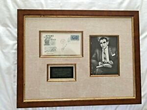 EDWARD TELLER- The Father of Hydrogen Bomb Vintage 1st Day Cover Museum Framed