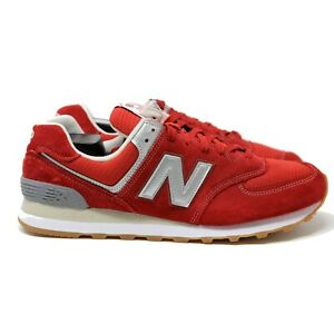 New-Balance-NB-574-Classic-ML574XRT-sz-13-Red-Silver-Gum-Running-EU-47-5-UK-12-5