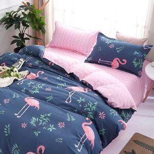 Animal-Printing-Bedding-Set-Duvet-Quilt-Cover-Sheet-Pillow-Case-Four-Piece-New