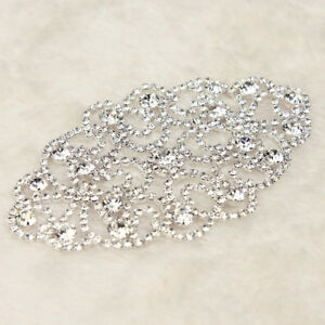 1-Pc-Rhinestone-Crystal-Applique-Wedding-Bridal-Dress-Sew-On-Sewing-DIY-Craft