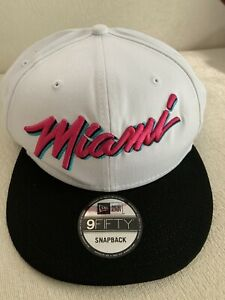 New-Era-Miami-Heat-City-Beach-Vice-Ediiton-9FIFTY-Snapback-Cap-950-Hat-USA-NEW