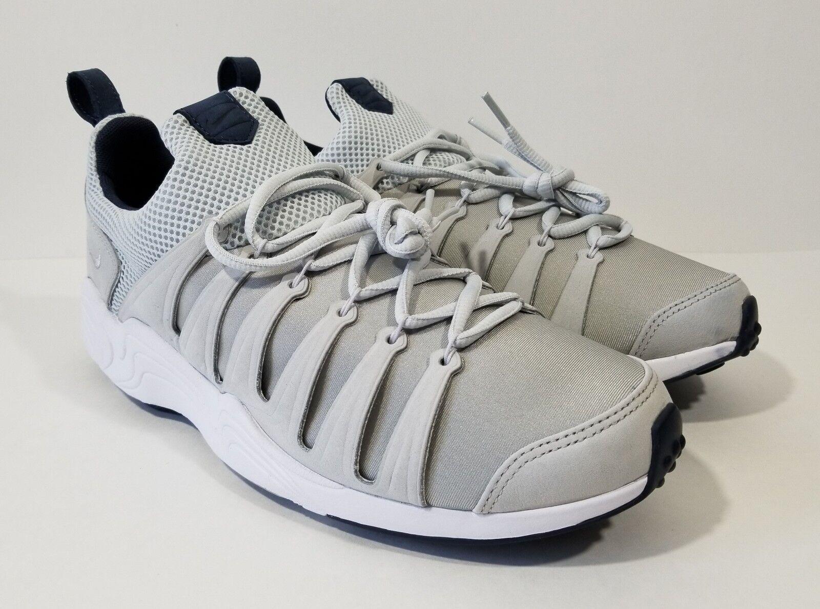 Nike Nike Nike Air Zoom Spirimic Mens Running shoes Grey White Size 10 4155da