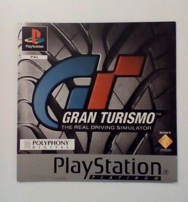 *front Inlay Only* Gran Turismo Front Inlay Ps1 Psone Playstation