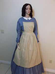 APRONS-PINNER-BIB-CIVIL-WAR-WOMEN-LADY-REENACTOR-VICTORIAN-DRESS-CLOTHING-1862