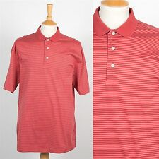 MENS TOMMY HILFIGER POLO T-SHIRT SHIRT RED STRIPE PATTERN CASUAL PREPPY TOP L