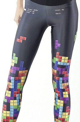 Women tetris GAME PRINTED Leggings MIlk Galaxy leggings girl pant  S-4XL 3100