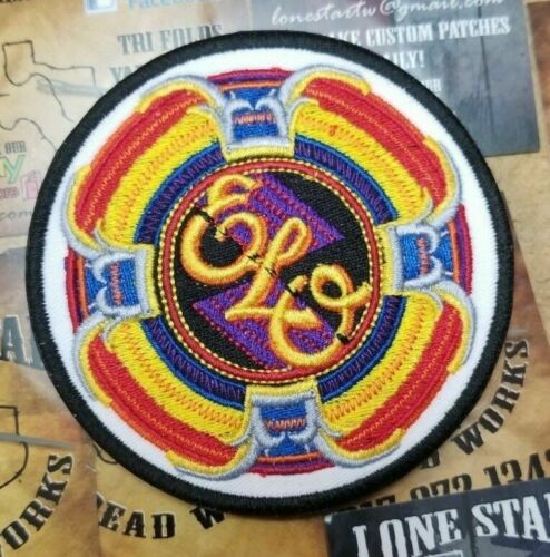 EMBROIDERED ELO COLORFUL ROCK BAND ROUND PATCH