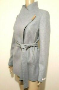 Uk 6 Coat Ted Usa Baker Grey Cashmere Wrap Bnwt £269 10 Keyla 2 Wool Rrp P0qYgP