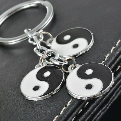 1PC Tai Chi Yin Yang Alloy Key Chain Creative Fashion People Key Ring