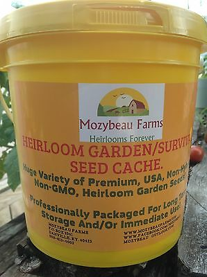 101 VARIETY, HEIRLOOM GARDEN/SURVIVAL SEED CACHE WITH $15 HERB PACK