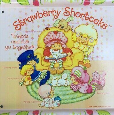 Rare Vintage 1980s Strawberry Shortcake Metal Tv Lap Tray Ebay