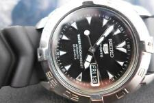 Classic Black Dial 42mm SS Seiko Sports 5 7S36 00Y0 Day/ Date Automatic