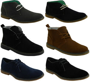 MENS SUEDE WINTER CASUAL LACE UP FASHION BOOTS ANKLE DESERT TRAINERS SHOES SIZE