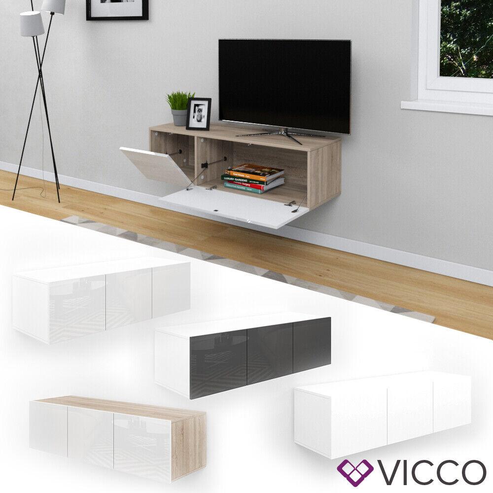 VICCO Lowboard CUMULUS Highboard weiß hochglanz Kommode Sideboard TV Anrichte
