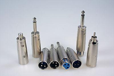 8 Adapter XLR männlich weiblich Klinke 6,3 mono XLR Chinch