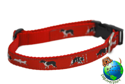 "Border Collie Adjustable Collar Medium 11-19/"" Red"