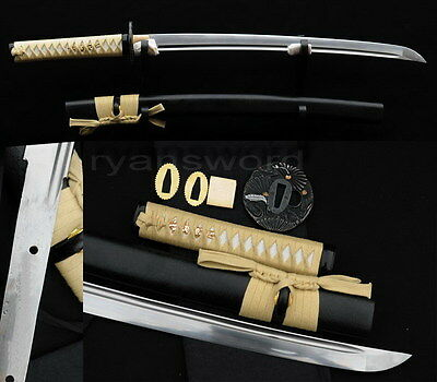 "30""Handmade Wakizashi Japanese Samurai sword Full Tang 1060 Carbon Steel Sharp"