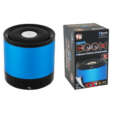 MICRO BOOM BLUETOOTH SPEAKER MP3- PHONE- COMPUTER ASTV-BLUE- PC iPod iPhone