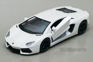 LAMBORGHINI-Aventador-LP700-4-Bianco-Welly-scala-1-34-39-modello-Auto-Giocattolo-Regalo