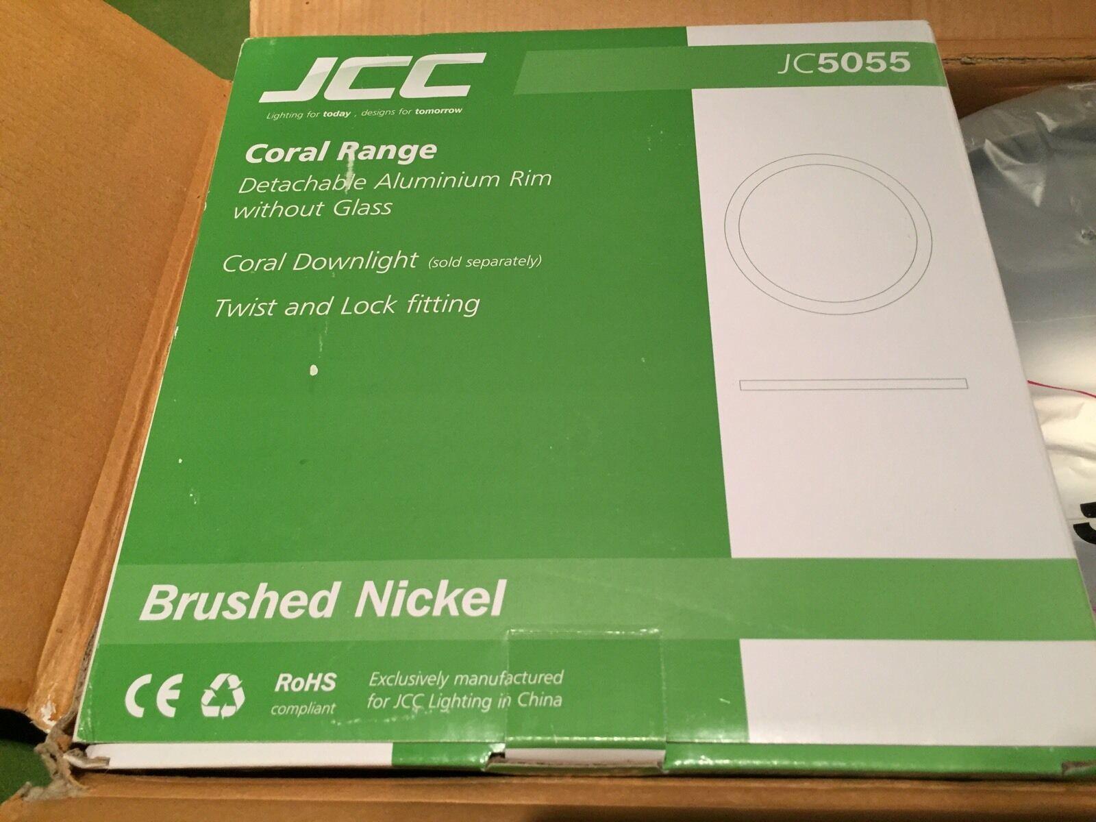 JCC Lighting Coral Downlight Rim JC5055 Brushed Nickel Aluminium Light Rim