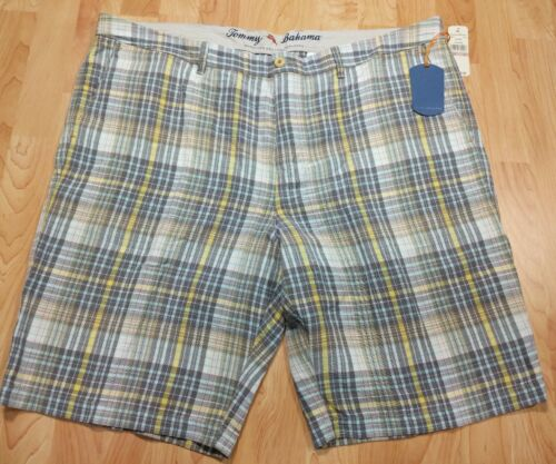 NEW Tommy Bahama Mens Shorts Sz 42 Plaid Tartar Brown Yellow Beige T813526 $98