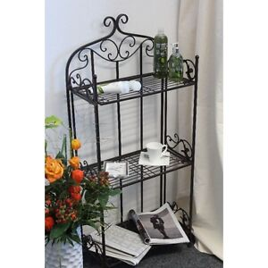 metallregal standregal gartenregal metall regal klappbar antik look top neu ebay. Black Bedroom Furniture Sets. Home Design Ideas