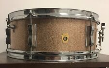 "Vintage Ludwig 14"" Snare Drum - ""Champagne Sparkle"" - Made in USA"