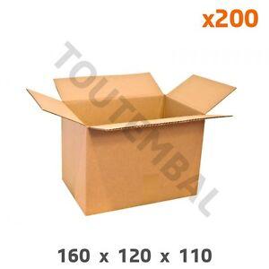 Charmant Caisse Carton Simple Cannelure Petites Dimensions (a6) 160x120x110 Mm (par 200) Prix De Vente Directe D'Usine