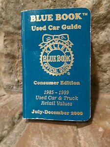 Kelley Blue Book Official Used Car Guide Jul Dec 2000 Car Truck Retail Values 758864823746 Ebay