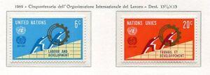 19091-UNITED-NATIONS-New-York-1969-MNH-Nuovi-OIL-ILO