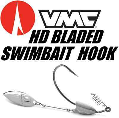 VMC Weighted Heavy Duty Bladed Swimbait Wide Gap Hook Select Size