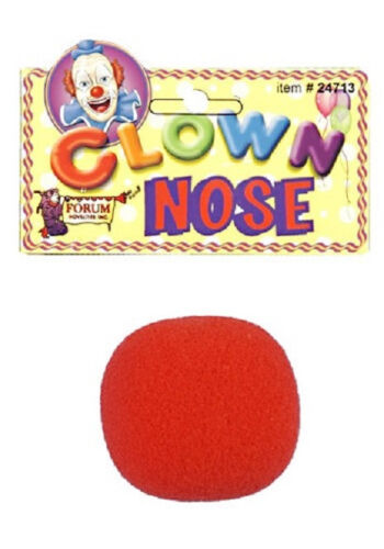 Clown Nose Red Foam Circus Carnival Fancy Dress Up Halloween Costume Accessory