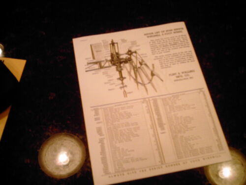 F /& W Star 37 Windmill Repair Parts List