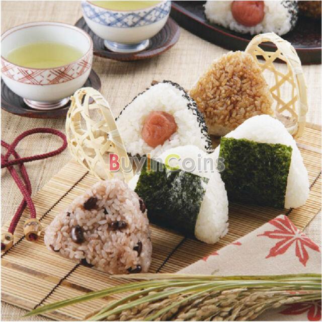 1/2set DIY Onigiri Rice Ball Bento Press Maker Mold Triangle Form Mold Sushi AU