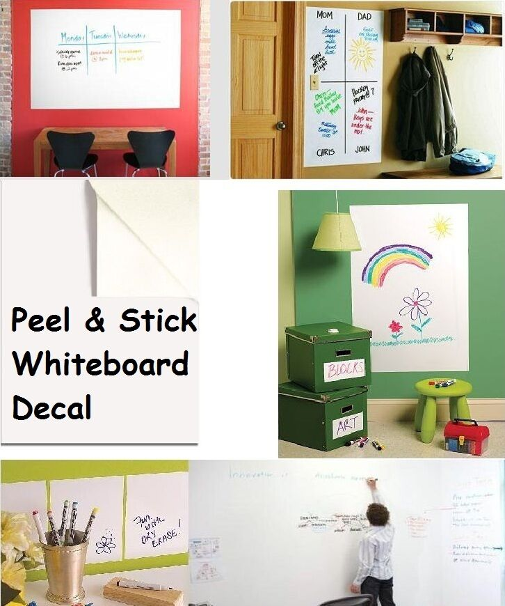 whiteboard removable vinyl sticker dry erase white board sheet decal