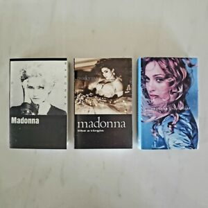 MADONNA - Bundle Lot of 3 Cassette Tapes - Self - Like a Virgin - Ray of Light