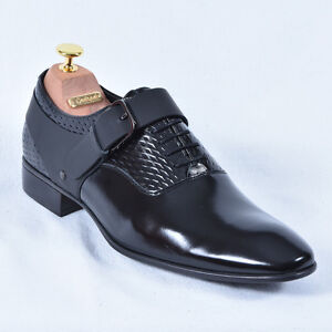 Conhpol Herrenschuhe Halb Schuhe Schn rer Business Schwarz Neu Leder 41 42 43