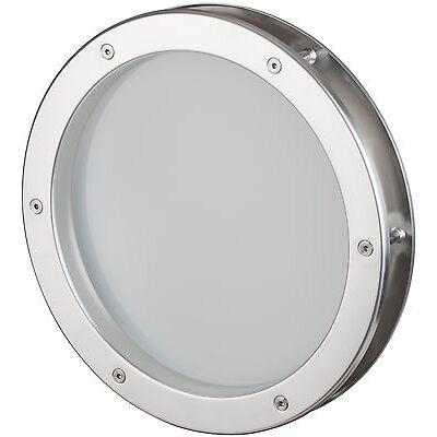 Bullauge 25 cm Edelstahl-Optik, VSG Klarglas, sehr hochwertig, Rundfenster