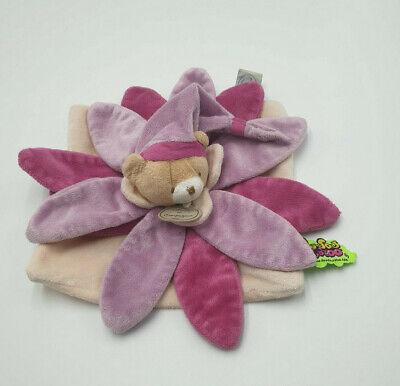 Doudou /& Compagnie plat Collector ours fleur pétale rose violet tatoo NEUF
