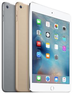 Apple iPad Mini 4 |16GB 32GB 64GB 128GB| Wi-Fi + 4G Unlocked - All Colors